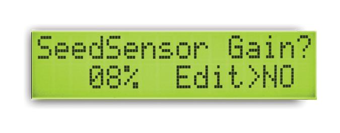 Seed Sensor Gain